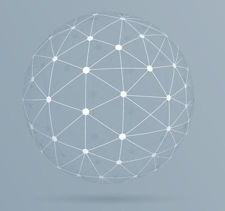 소셜 네트워킹, 글로벌 디지털 연결 일러스트