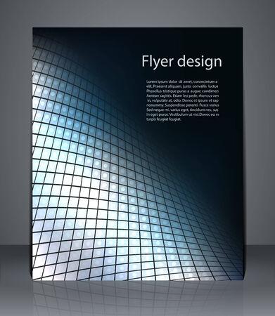 presentation folder: Flyer design or magazine cover, poster