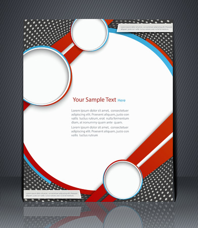 print shop: layout  flyer, magazine cover, template or corporate banner design