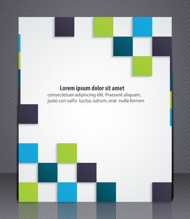 marca libros: flyer negocio diseño, portada de la revista, plantilla o estandarte corporativo, plantilla de diseño geométrico