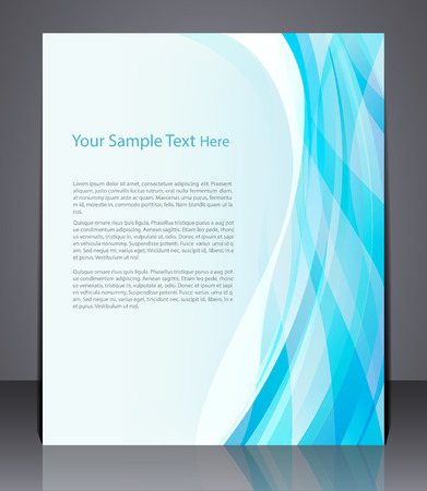 Vector layout business flyer, magazine cover, template or corporate banner design  in blue colors.  Иллюстрация
