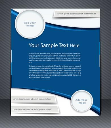 marca libros: flyer negocio diseño, portada de revista, o el diseño corporativo plantilla de anuncio, de color azul.
