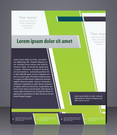 marca libros: flyer negocio diseño, portada de revista, plantilla o diseño de la bandera corporativa en colores verdes.