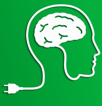 Thinking man, Creative brain Idea concept.