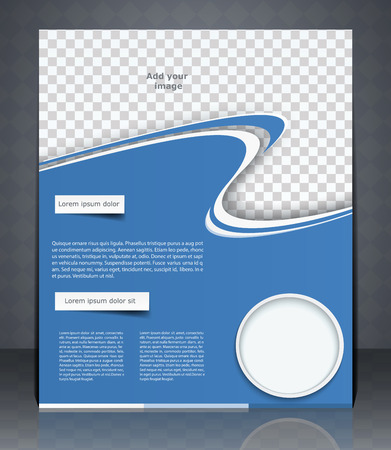 Layout Flyer Magazine Cover Or Corporate Design Template ...