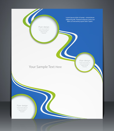 catalogs: layout flyer, magazine cover, or corporate design template advertisement in green color