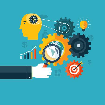 워크 플로우, 검색 엔진 최적화 또는 브레인 스토밍의 창조적 개념
