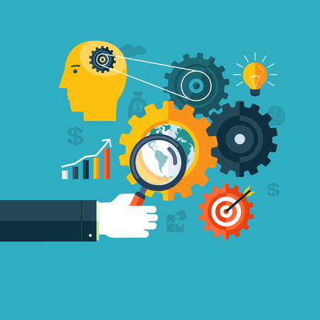 Creative concept of workflow, search engine optimization or brainstorming