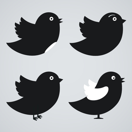 swallow bird: Set of birds icons