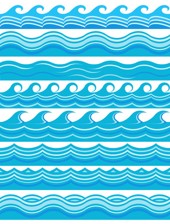 Blue wave patterns  Illustration