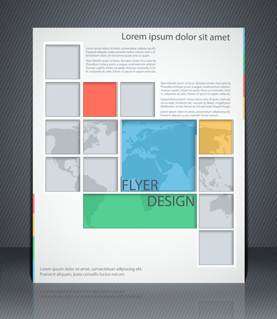 advertisment: Vector layout business flyer with map, magazine cover, or corporate geometric design template advertisment