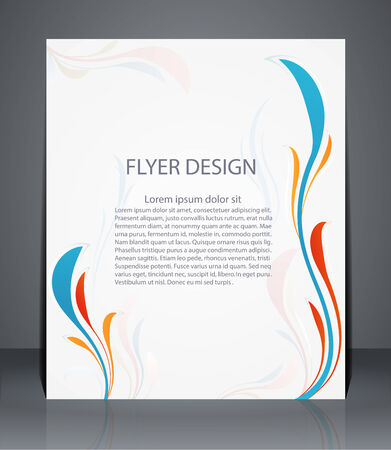 catalogs: Magazine flyer, brochure or cover layout design template with floral pattern Illustration