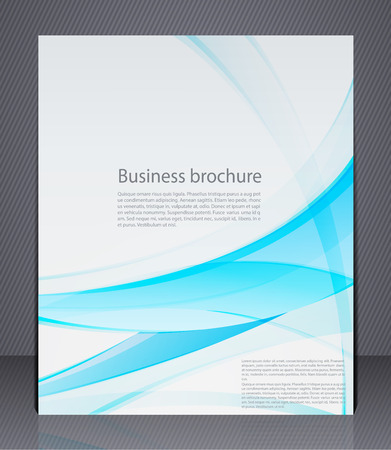 Vector layout business flyer, magazine cover, template or corporate banner design in blue colors Vetores