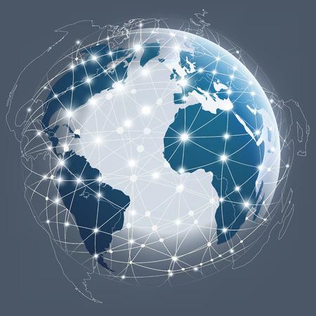 energy grid: Globe digital connection, Digital communications
