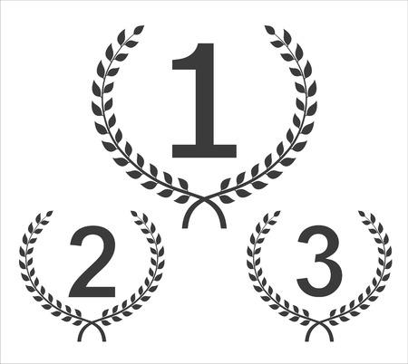 first prize: Cilcular winner emblems  Set from three winners