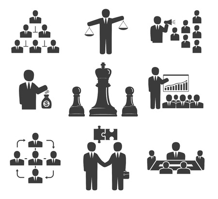 Business people  Office icons, conference, workforce, business meetings