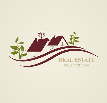Real Estate Symbols  for Business Purposes. Illustration