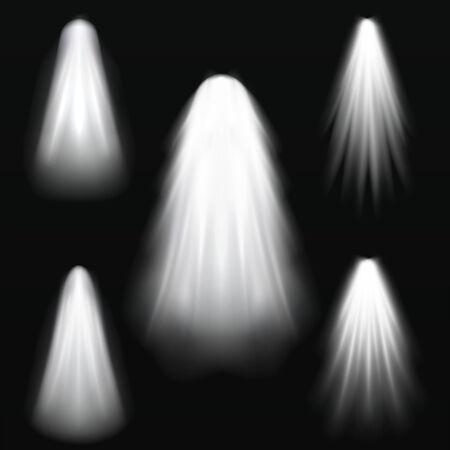 Glowing effects on dark background