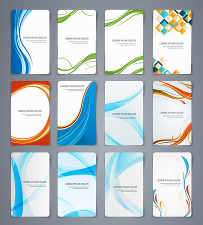 coatings: Business cards, brochures or banners Set of templates for different coatings