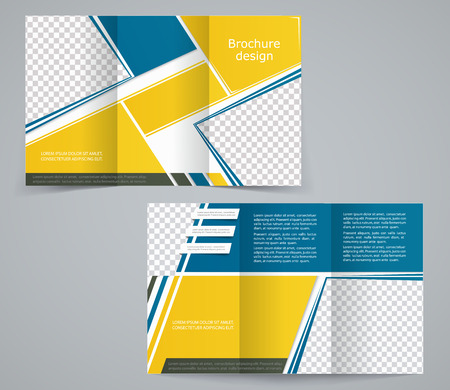 magazine stack: Tri-fold business brochure template