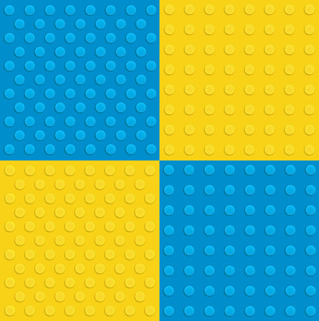 construction background: Plastic construction background in various colors Illustration