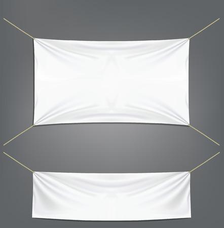 白のガーター付けバナーします。  イラスト・ベクター素材