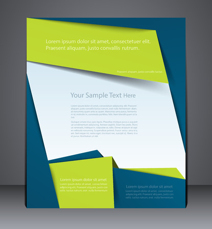 Layout business brochure, magazine cover or corporate design template