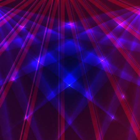 Laser background with blue and violet rays