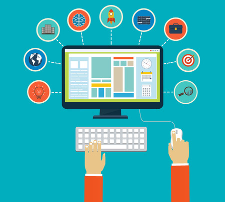Business Infographics By Using Modern Of Digital Devices Or Web ...