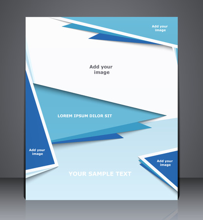 catalogs: Vector layout business brochure, magazine cover, web, or corporate design template advertisment in blue colors
