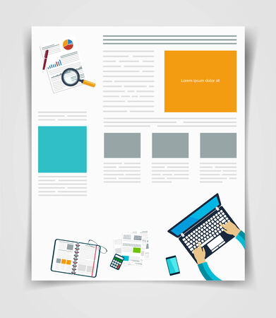 business book: Layout business flyer or brochure technology, web template, infographics statistics
