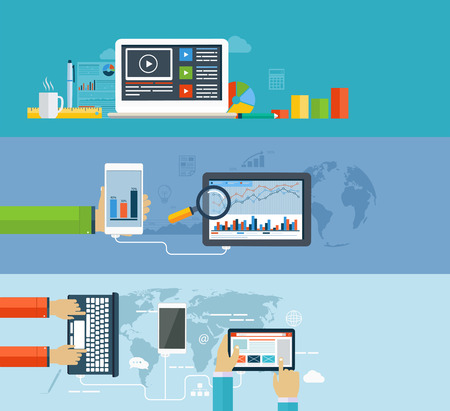 web plan: Business infographics by using modern of digital devices for internet browsing, data transfer on mobile devices, reporting, statistical charts and graphs