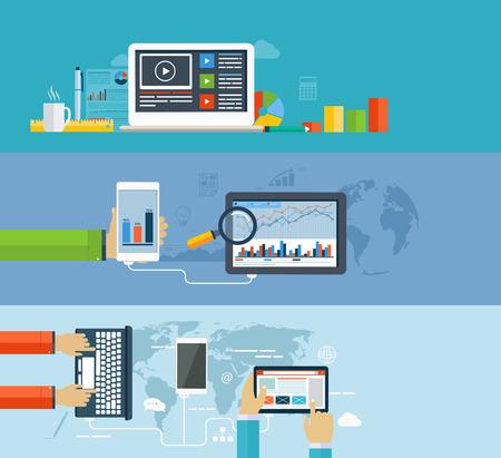 plan de accion: Infograf�a de negocio mediante el uso moderno de los dispositivos digitales para la navegaci�n de Internet, transferencia de datos en los dispositivos m�viles, informes, tablas y gr�ficos estad�sticos