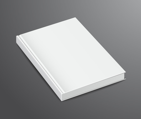 photo realism: Blank Book Design Isolated on Dark Background, Hardcover