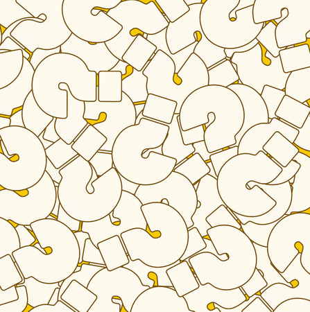 questionably: Background of Questions Mark, Help Symbol White Color on Yellow Background