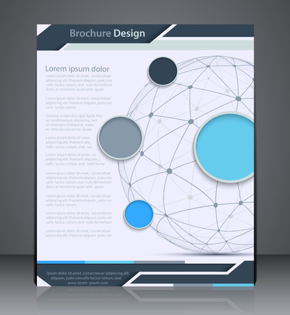 catalogs: Vector Layout  Brochure with Sphere, Flyer Design Template, Web,  Design With in Blue Colors