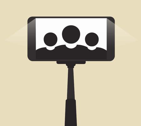 self   portrait: Self Portrait On Smartphone Using a Monopod
