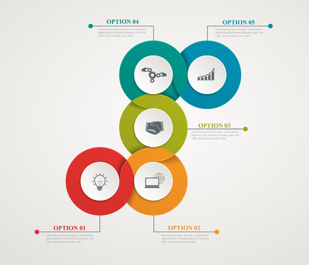 sectors: Abstract Circles Parts Infographic With Step By Step Structure. Template Diagrams, Presentation And Chart, Business Concept