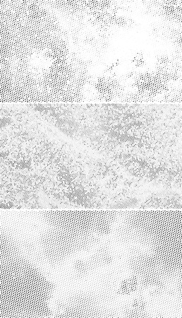 Vintage Halftone Backgrounds, Scattered Black Dots on White Background 일러스트