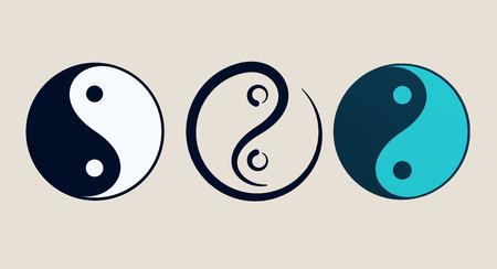 armonía: Ying yang símbolo de la armonía y el equilibrio