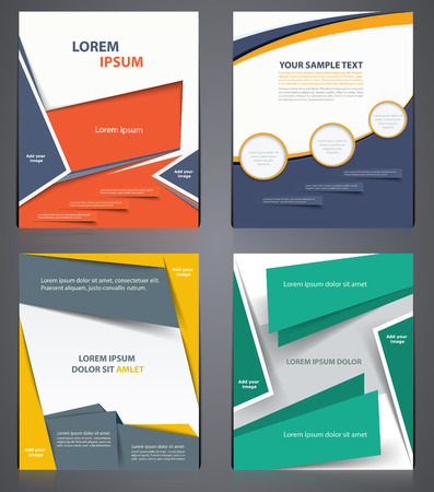 layout business brochures flyer design template in a4 size
