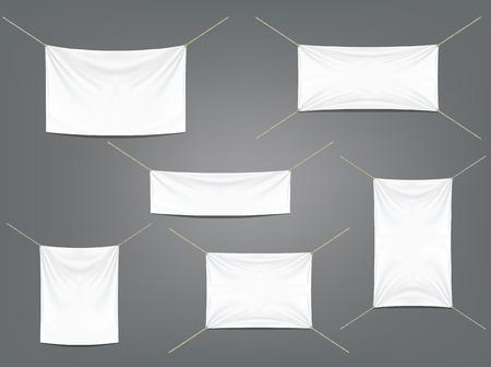 ligueros: Banderas blancas con ligueros conjunto