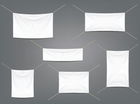 garters: White banners with garters set