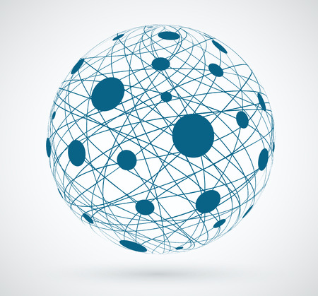 Networks wereldwijde verbindingen. Vector Illustratie
