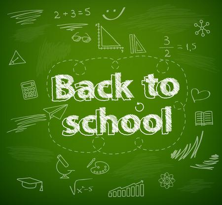 chalk board: School board, back to school Illustration