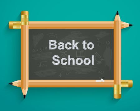 School board with pencils, back to school