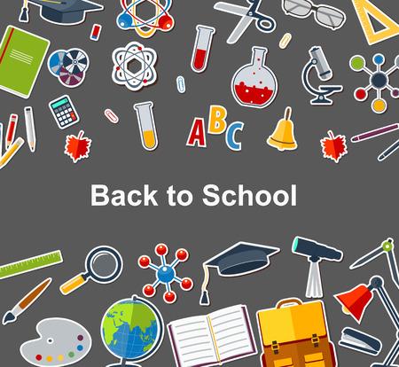 utiles escolares: Volver a la escuela de fondo con los accesorios de formación de las escuelas.