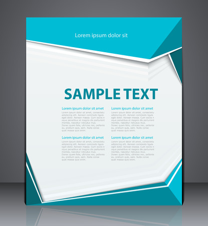 Vector business brochure flyer design layout template, cover design in blue colors