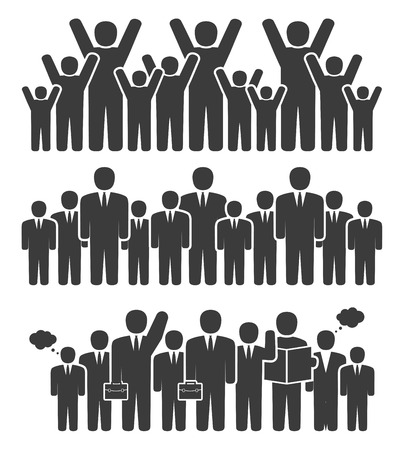 business group: Group of business people in a standing position
