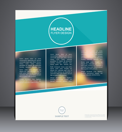 brochure cover design: Business brochure flyer design in A4 size, layout cover design in blue colors with blurred background